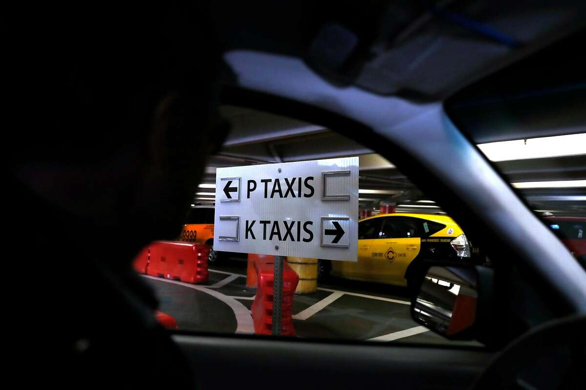 Taxi driver Marcelo Fonseco arrives at San Francisco International Airport in San Francisco, Calif., on Sunday, February 17, 2019.