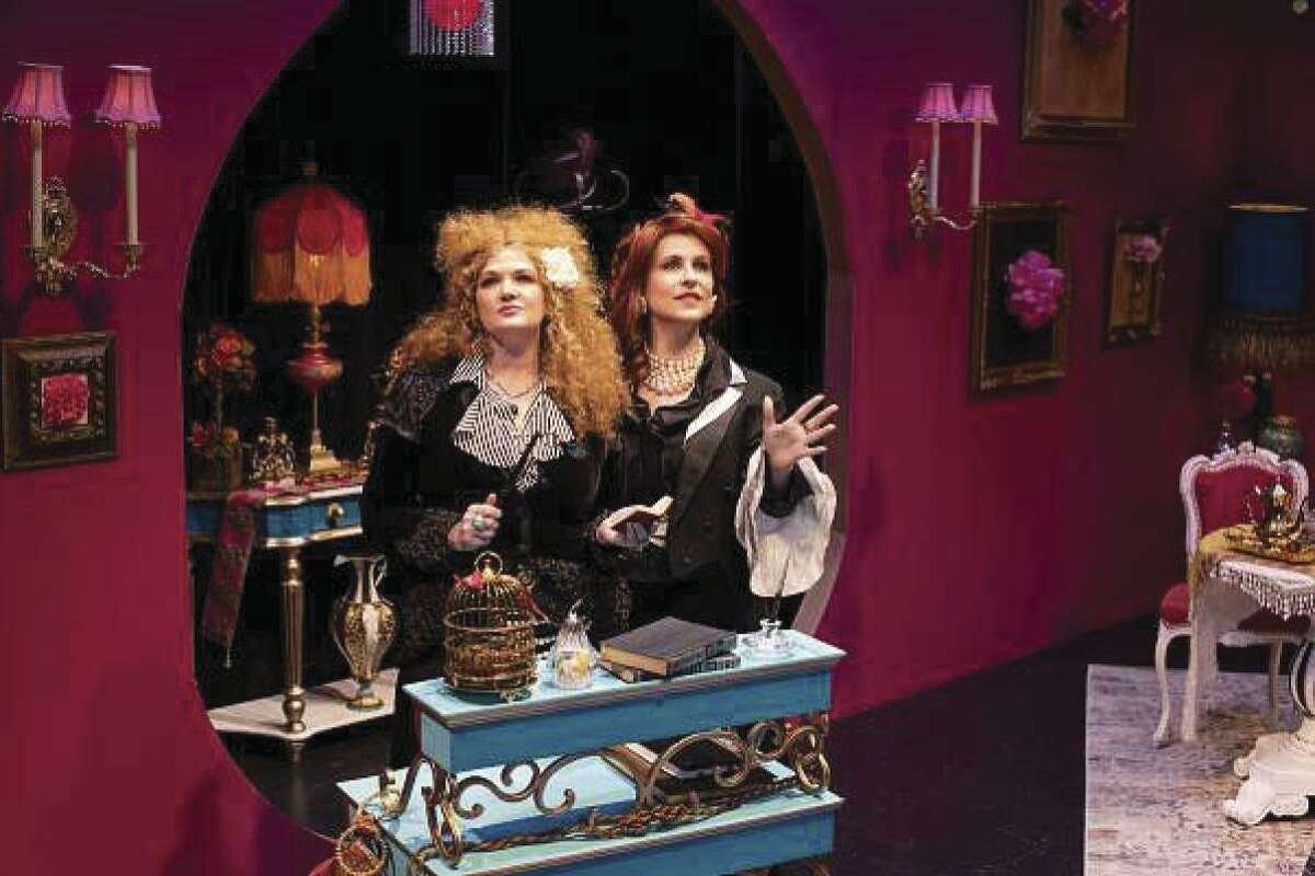 """Malinda L. Beckham as Anna and Melissa J. Mayo as Claire in Dirt Dogs Theatre Company's production of """"Boston Marriage"""" on stage through Feb. 23."""