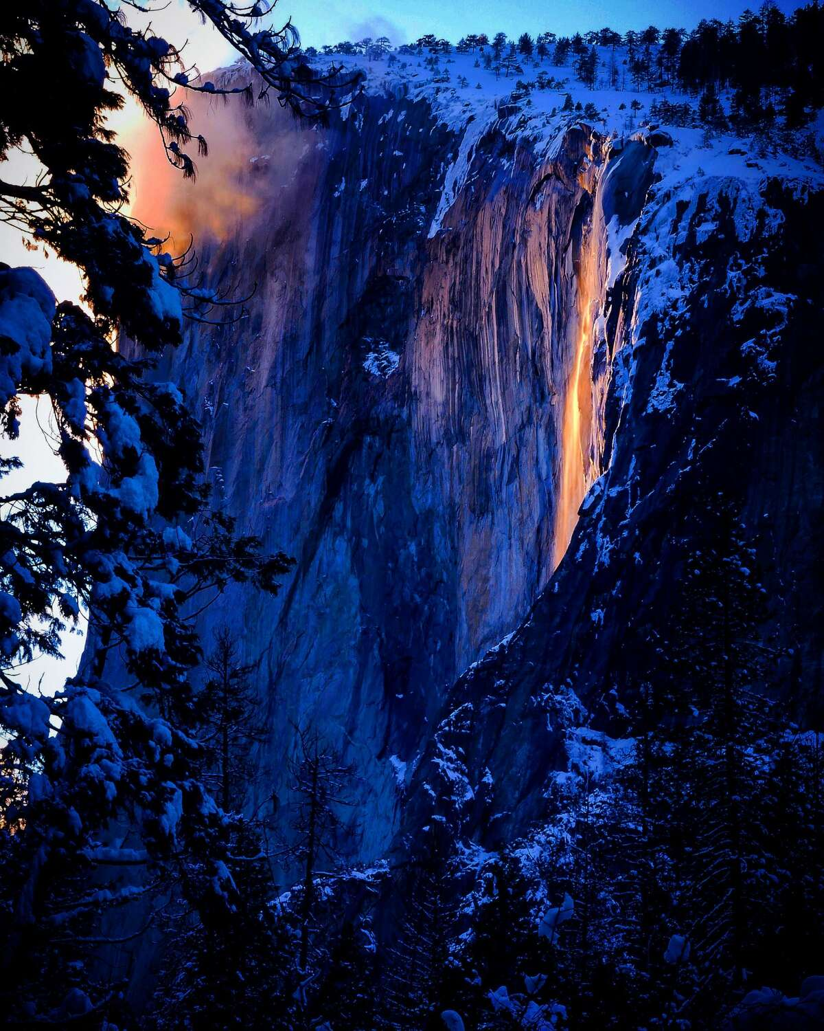 The Horsetail Fall phenomenon commonly known as a