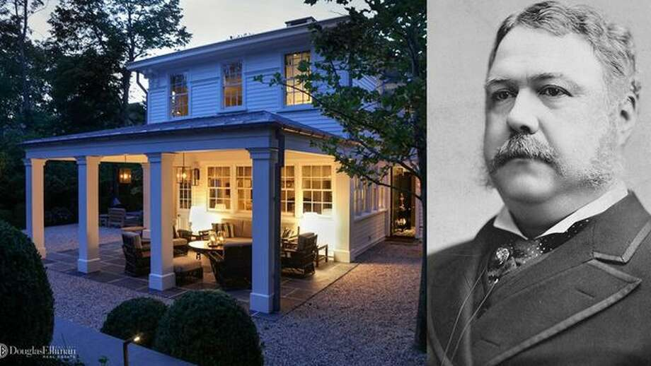 President Chester A. Arthur kept a summer White House in Sag Harbor, NY, in the 1880s. The historic home is now on the market for $13.5 million. Photo: Realtor.com; Wikipedia CC