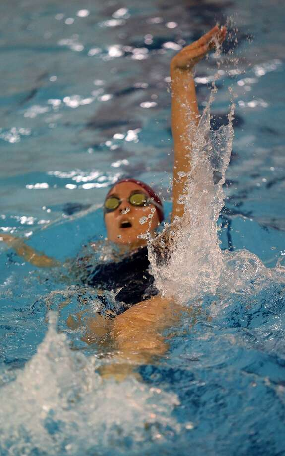Orange's Mollee Lasto is wrapping up four-year career with Eastern Connecticut State swimming. Photo: Thomas R. Standish / ECSU Athletics