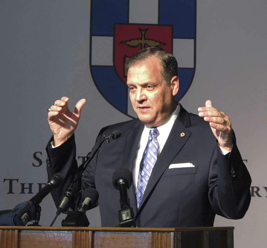 The Rev. R. Albert Mohler Jr., president of Southern Baptist Theological Seminary, pictured here in an Oct. 5, 2015 file photo, says he was wrong to support a Kentucky pastor accused of covering up sex abuse. Mohler first addressed the issue Thursday in an interview with the Houston Chronicle. Photo: Bruce Schreiner /Associated Press / Copyright 2019 The Associated Press. All rights reserved.