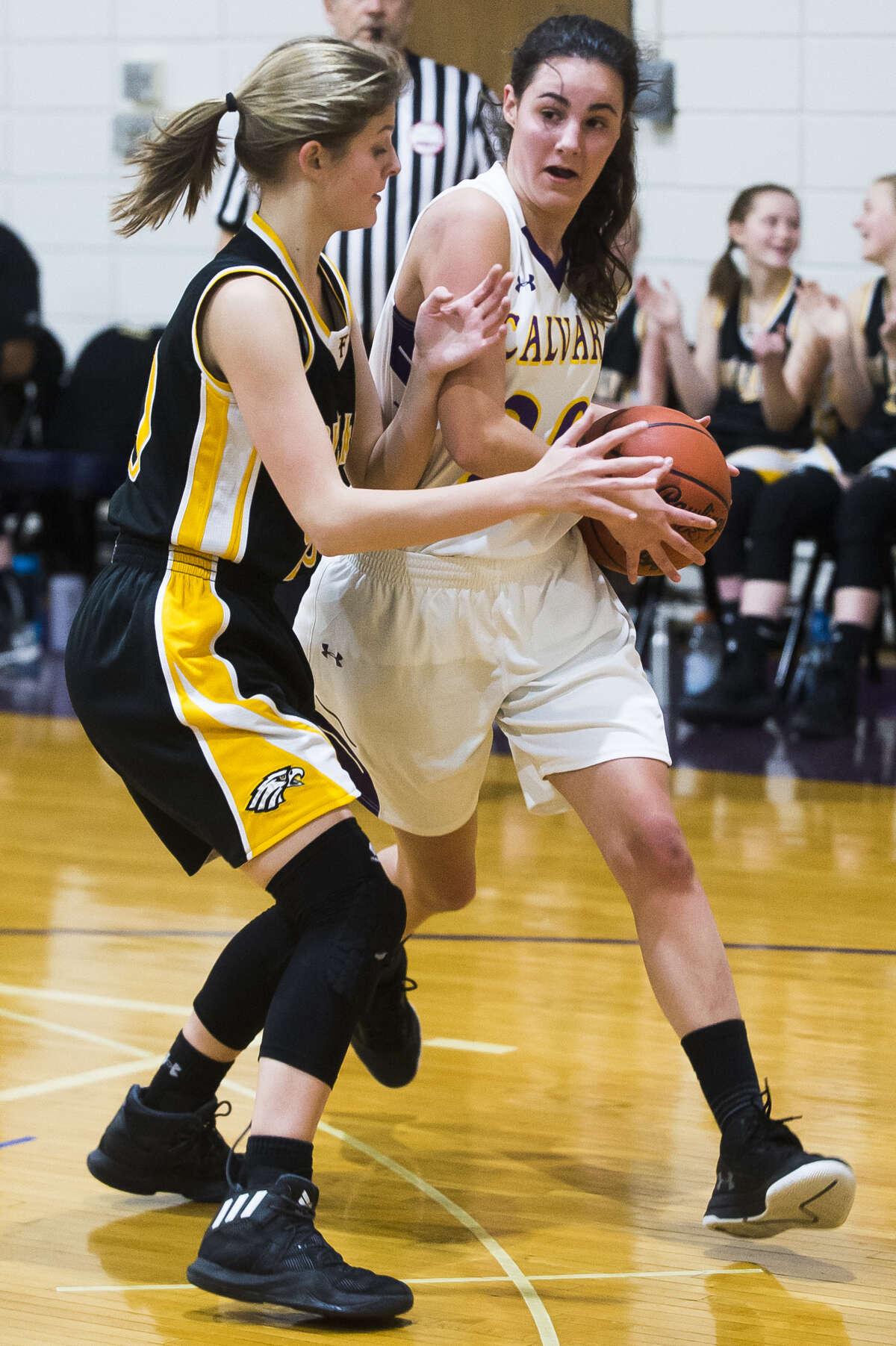 CBA's Cassady Holdeman makes a move toward the basket during a game against Faith Baptist of Davison earlier this season.