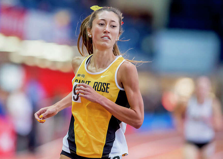 Guilderland High graduate Christine Myers of the College of Saint Rose women's indoor track team. (Courtesy of Saint Rose)