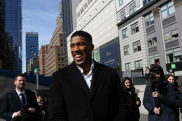 Anthony Joshua, a heavyweight boxer, in New York, Feb. 19, 2019. Joshua is ready to take on Jarrell Miller, all 300-plus pounds of him, at Madison Square Garden on June 1. Then he wants the rest of the division. (Earl Wilson/The New York Times)