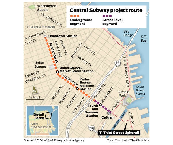 San Francisco Muni Metro Map.Bring Muni Metro T Line To The Marina Next Sfchronicle Com