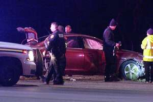 A couple was arrested early Wednesday after leading authorities on a high-speed chase through the West Side.