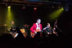 Rockabilly band Reverend Horton Heat stopped by Paper Tiger on Tuesday February 20, 2019.