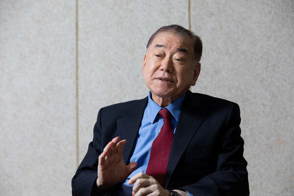 Moon Chung-in, a special adviser for foreign affairs and national security to South Korea President Moon Jae-in, speaks during an interview in Seoul, South Korea, on Feb. 15, 2019.