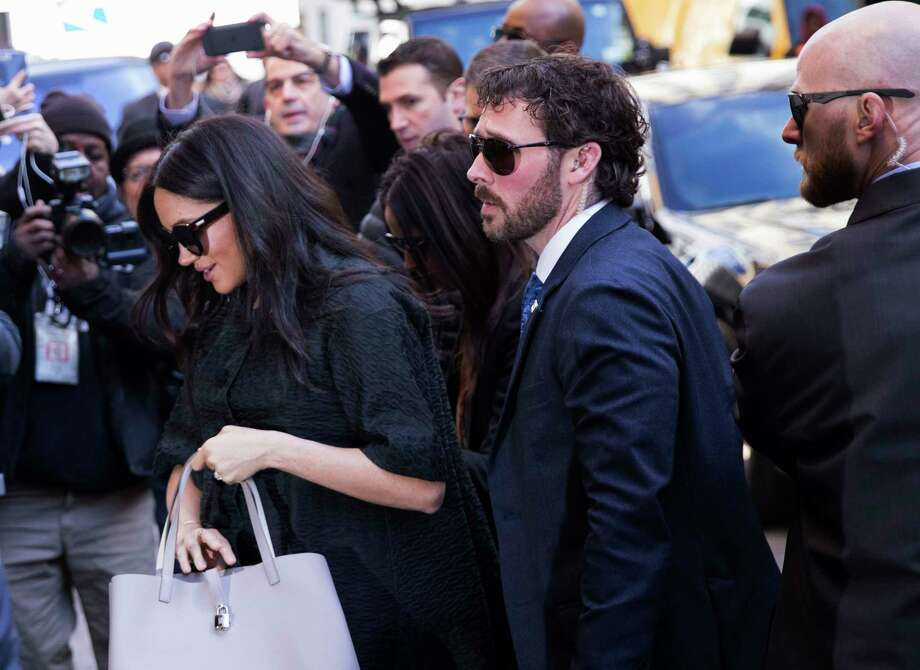 Meghan, Duchess of Sussex, arrives for her baby shower at the Mark Hotel on Tuesday, Feb. 19, 2019, in New York. (AP Photo/Kevin Hagen). Photo: Kevin Hagen / Kevin Hagen