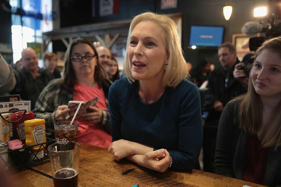 U.S. Senator Kirsten Gillibrand speaks to guests during a campaign stop at the Chrome Horse Saloon on February 18, 2019 in Cedar Rapids, Iowa. Gillibrand, who is seeking the 2020 Democratic nomination for president, made campaign stops in Cedar Rapids and Iowa City today.  (Photo by Scott Olson/Getty Images) Photo: Scott Olson/Getty Images