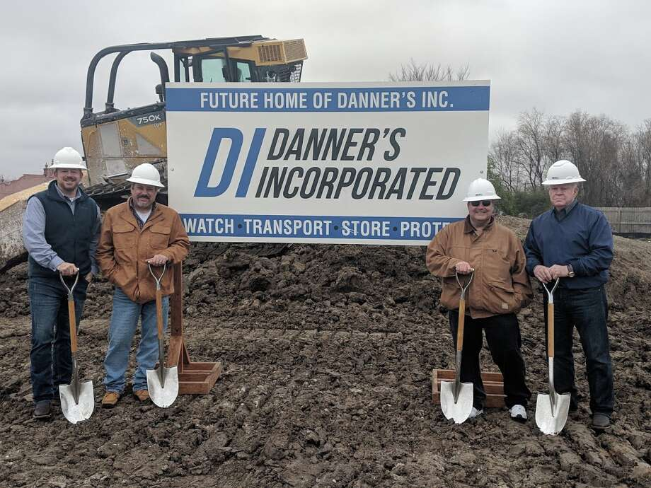 Danner's, a family owned security and maritime services company, broke ground on a new headquarters at 3551 Pasadena Blvd. in Pasadena. From left: Brad Maxcey, Doug Maxcey, James Maxcey and Jim Maxcey. Photo: Danner's