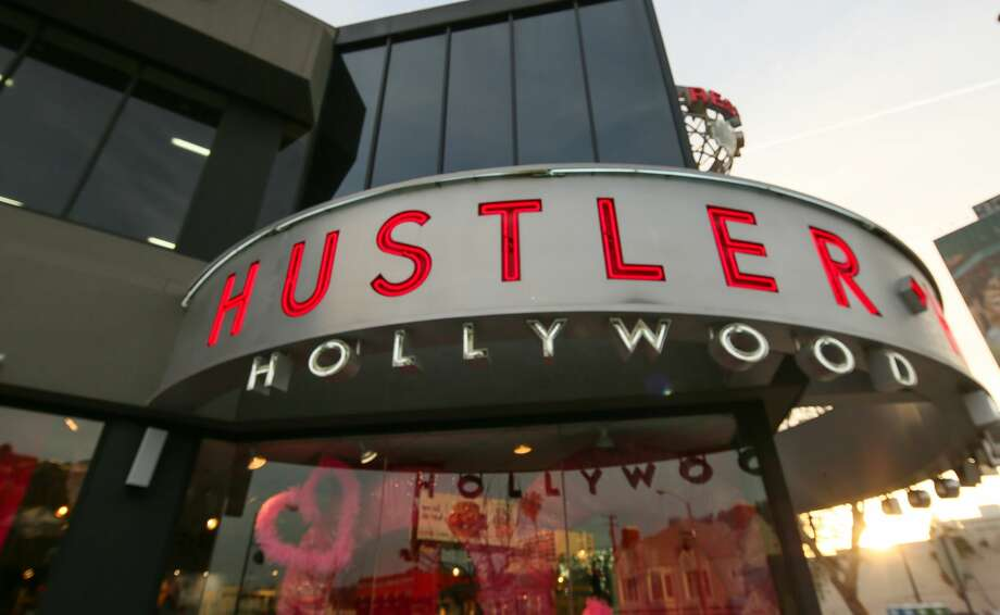 The Hustler Store on Sunset Boulevard in Hollywood on is seen in this 2017 photo. The store in San Antonio has begun offering curbside service. Photo: FG/Bauer-Griffin/GC Images
