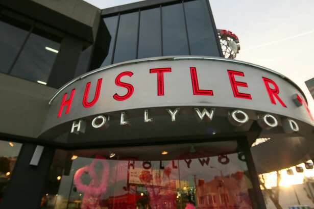 LOS ANGELES, CA - FEBRUARY 02: The Hustler Store on Sunset Boulevard in Hollywood on February 02, 2017 in Los Angeles, California. (Photo by FG/Bauer-Griffin/GC Images)