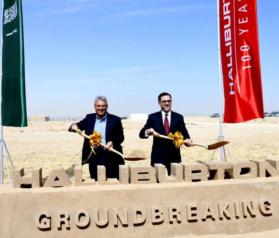 Halliburton and Saudi Arabian officials broke ground on the company's new oilfield chemical plant along the Persian Gulf port of Jubail.  NEXT: See the world's largest refineries. Photo: Halliburton