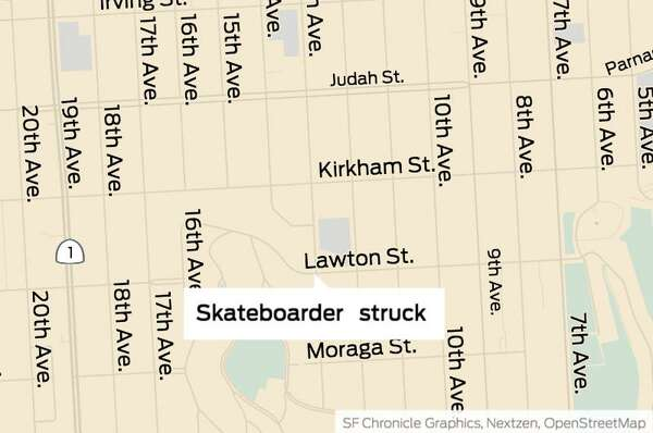Skateboarder in SF in critical condition after being struck by car