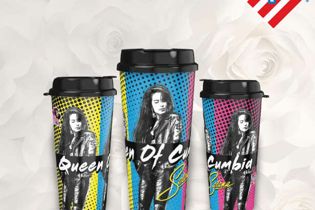 "Stripes will release three limited-editio cups featuring Selena, known as the ""Queen of Cumbia."""
