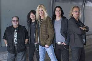 The Guess Who will perform at Waterbury's Palace Theater on March 9. From left are Garry Peterson (drummer and founding member), Rudy Sarzo (bass), Derek Sharp (lead vocals and guitar), Will Evankovich (lead guitar) and Leonard Shaw (keyboard, flute, and sax).