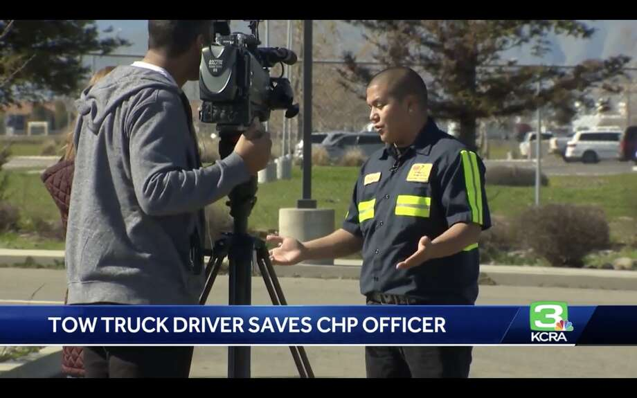 21-year-old tow truck driver rescues CHP officer being stabbed