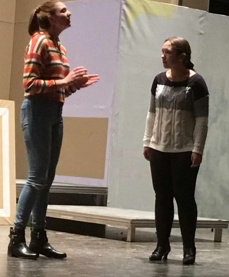 Rehearsals for Johnstown High School's production of