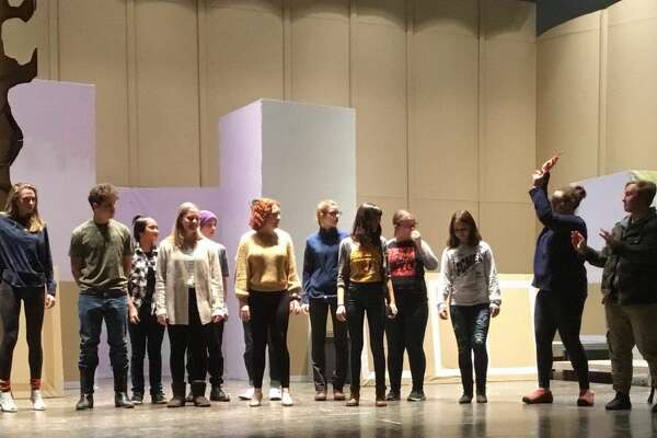 "Rehearsals for Johnstown High School's production of ""The Addams Family."""