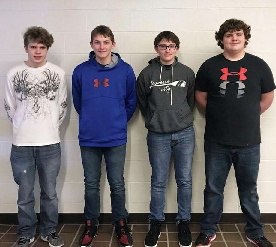 This year's underclass candidates for Unionville-Sebewaing Area's Coming Home King are (from left): Kyle Babcock, junior; Kirkland Czewski and Daniel Czewski, sophomores; and Dakota Miller, freshman. Not pictured is: Gavin Renn, junior, and Garrison Dyer, freshman. (Submitted Photo)