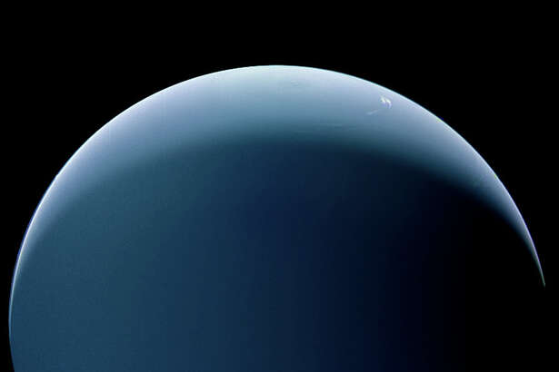Neptune as seen by Voyager 2 during its flyby in 1989.