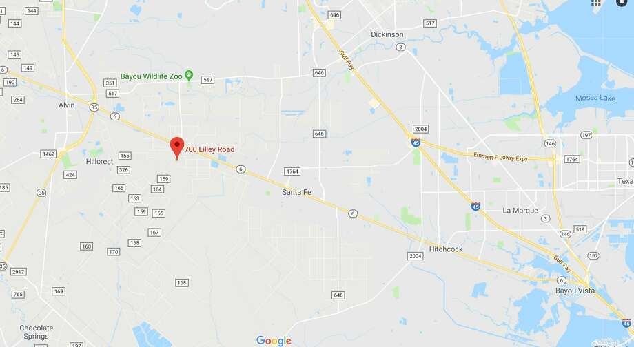 A 17-year old boy was shot and killed during a botched robbery attempt in an unincorporated part of Galveston County on Wednesday, Feb. 20. Photo: Google Maps