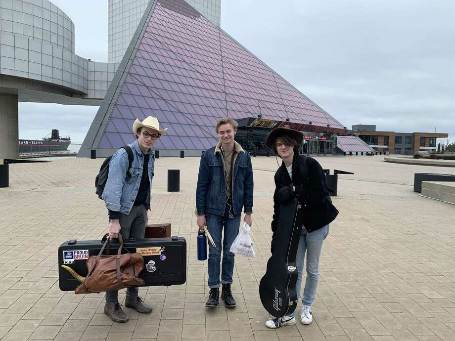 The Haps, a student band led by Peter McPoland, is headlining the festival. The Woodlands band Peter McPoland and The Haps won the 23rd annual Tri-C High School Rock Off at the Rock and Roll Hall of Fame and Museum in Cleveland, Ohio. Photo: Courtesy Photos / Courtesy Photos