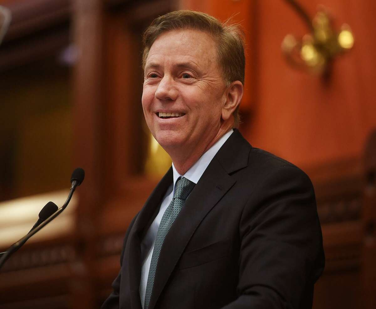 Gove. Ned Lamont delivers his budget address to the general assembly at the Capitol in Hartford on Wednesday, Feb. 20, 2019.