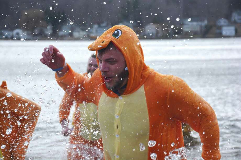 The annual Winsted Penguin Plunge to benefit Special Olympics will take place Saturday, March 2, 2019 at the Highland Lake. Photo: Special Olympics Connecticut