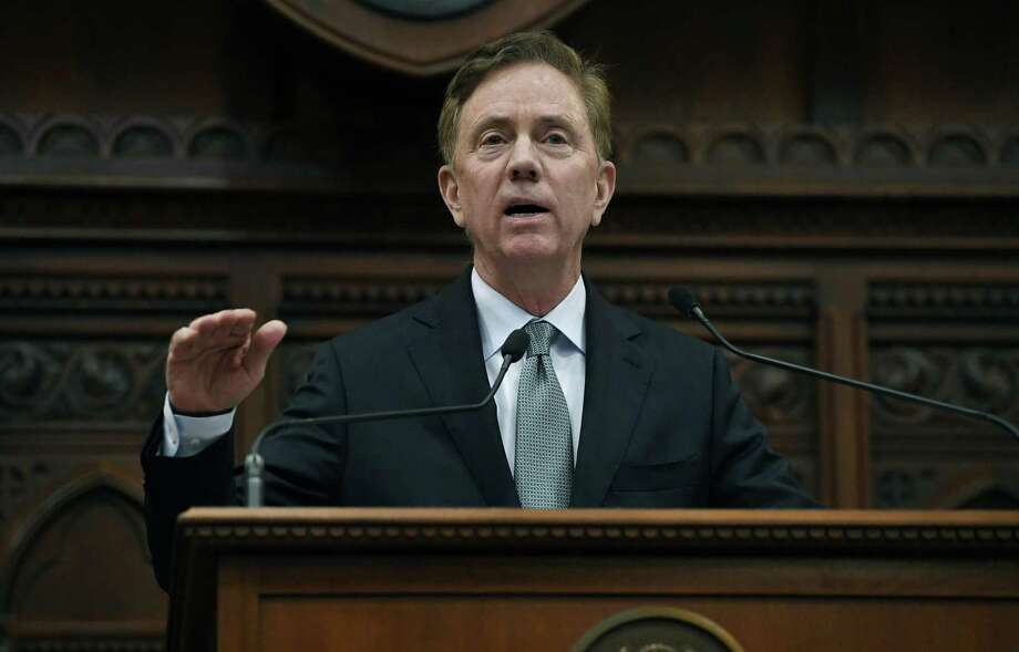 Gov. Ned Lamont delivers his budget address at the State Capitol in Hartford on Feb. 20. Photo: Jessica Hill / Associated Press / Copyright 2019 The Associated Press. All rights reserved