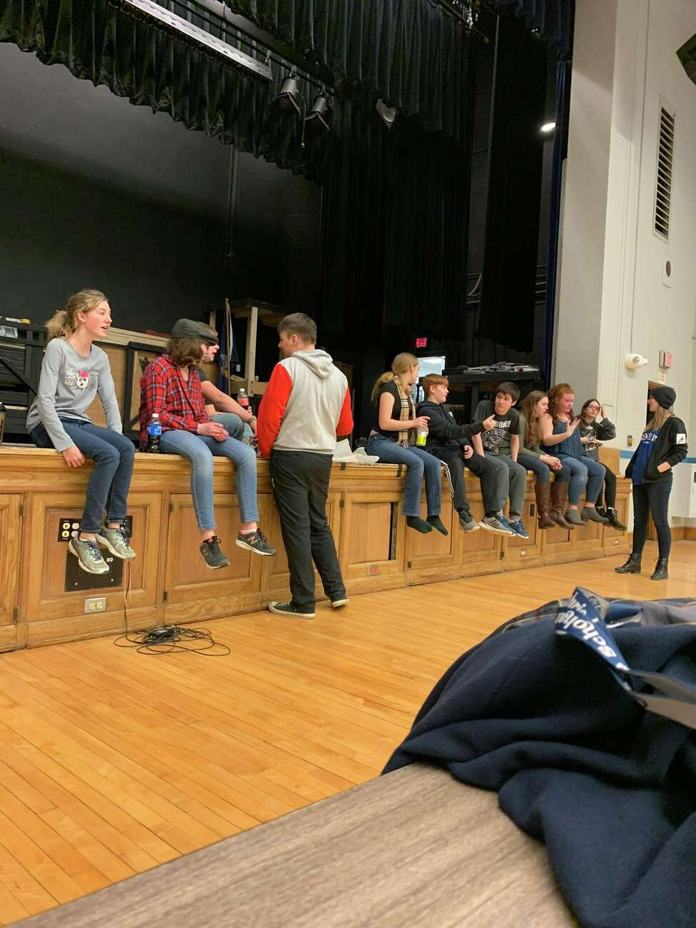 Rehearsals for the Schoharie High School production of