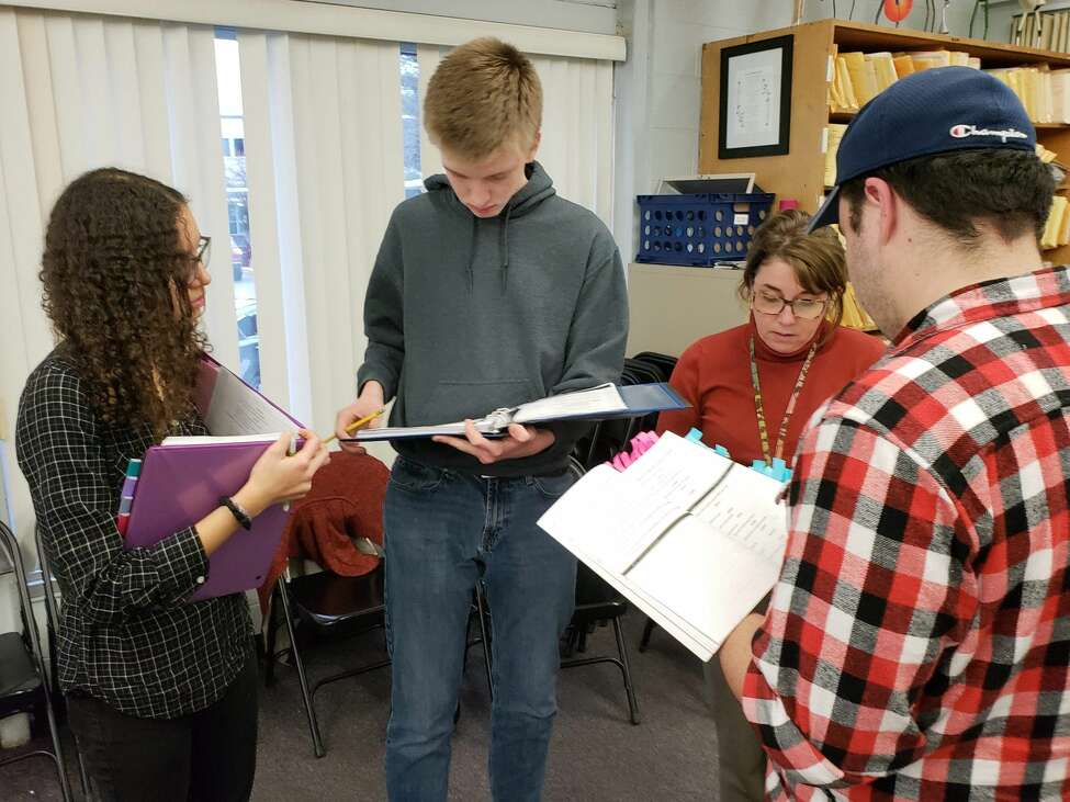 Rehearsal for the Shaker High School production of