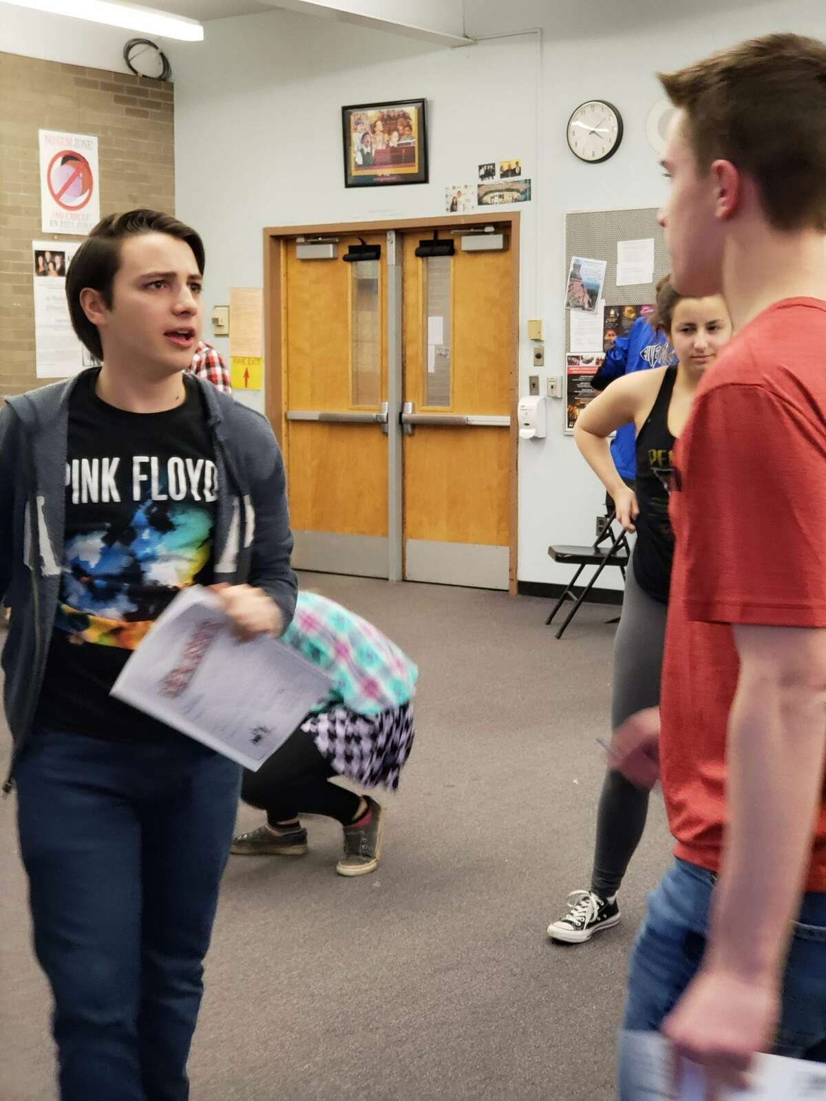 """Rehearsal for the Shaker High School production of """"Newsies."""""""