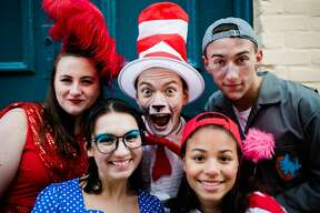 "Rehearsals for South Glens Falls High School production of ""Seussical the Musical."""