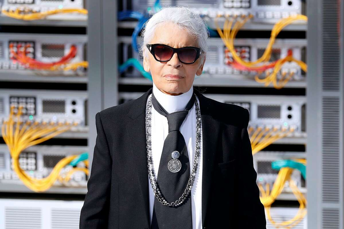 (FILES) In this file photo taken on October 04, 2016 German fashion designer Karl Lagerfeld acknowledges the audience at the end of the Chanel 2017 Spring/Summer ready-to-wear collection fashion show in Paris. - German fashion designer Karl Lagerfeld has died at the age of 85, it was announced on February 19, 2019. (Photo by PATRICK KOVARIK / AFP)PATRICK KOVARIK/AFP/Getty Images