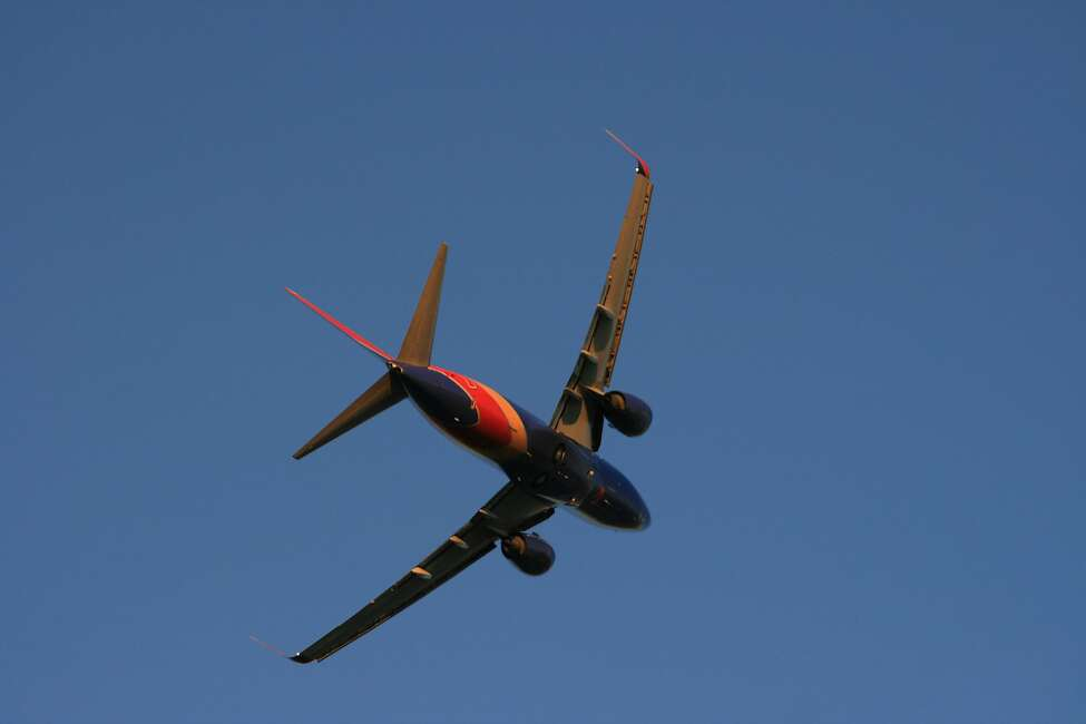 A Southwest Airlines Boeing 737 takes off from Houston's Hobby Airport.