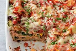 "This undated photo provided by America's Test Kitchen in February 2019 shows Vegetable Lasagna in Brookline, Mass. This recipe appears in the cookbook ""Revolutionary Recipes."" (Joe Keller/America's Test Kitchen via AP)"
