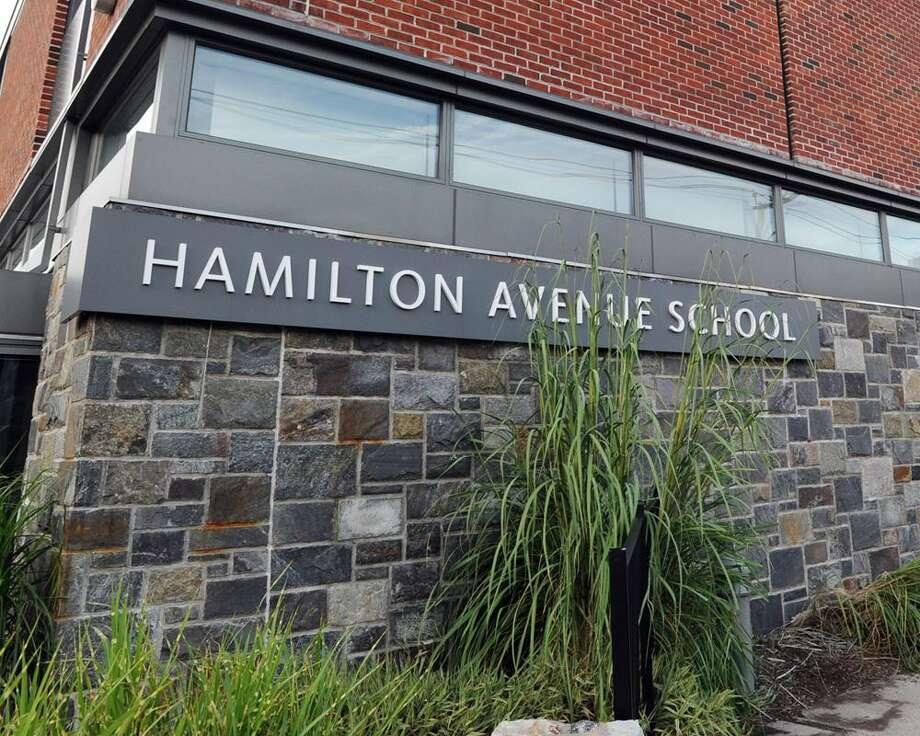 Exterior of the Hamilton Avenue School building Photo: File / Hearst Connecticut Media / Greenwich Time