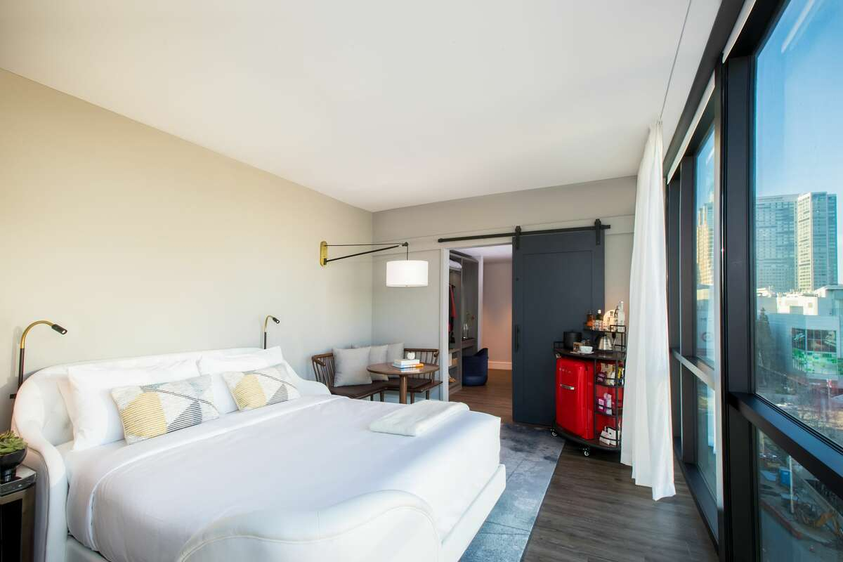 The Virgin Hotel San Francisco has 192 rooms and is located across the street from the Moscone Convention Center