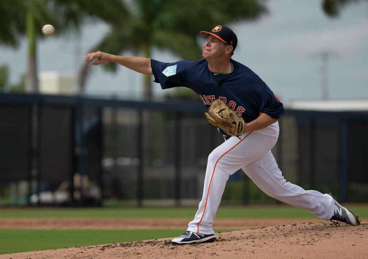 PHOTOS: Astros 7, Marlins 5 (exhibition) Houston Astros right handed pitcher Brad Peacock (41) pitches during live batting practice at Fitteam Ballpark of The Palm Beaches on Day 7 of spring training on Wednesday, Feb. 20, 2019, in West Palm Beach. >>>See photos from the Astros' Grapefruit League win over the Marlins on Thursday, Feb, 28, 2019 ...