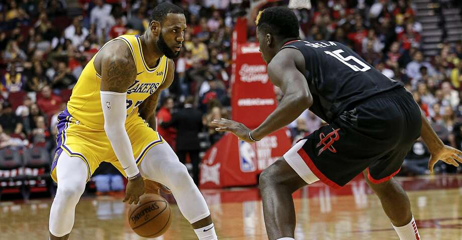 PHOTOS: Rockets game-by-game LeBron James #23 of the Los Angeles Lakers looks for room to drive on Clint Capela #15 of the Houston Rockets during the third quarter at Toyota Center on December 13, 2018 in Houston, Texas. (Photo by Bob Levey/Getty Images) Browse through the photos to see how the Rockets have fared in each game this season. Photo: Bob Levey/Getty Images