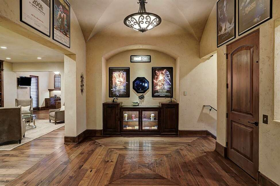 Located at 5409 Valerie Street, this 9,182 square-foot Bellaire mansion is built like a fortress. In addition to a unique Star Wars-themed media room, the home boasts five bedrooms, six full and two half bathrooms and a