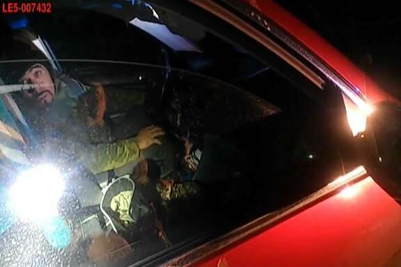 This image, captured by a Napa County Sheriff�s Department body camera, is from a video showing Deputy Riley Jarecki shooting and killing Javier Hernandez Morales on Feb. 17 after Hernandez Morales fired first. Jarecki was not injured. Hernandez Morales was pronounced dead at the scene.