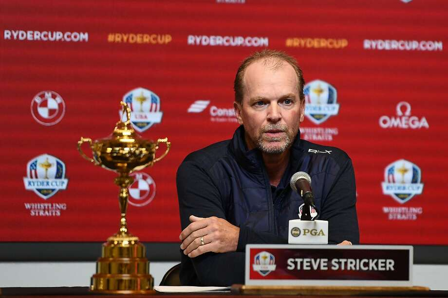 MILWAUKEE, WISCONSIN - FEBRUARY 20: Steve Stricker speaks with the media as he is named United States Ryder Cup Captain for 2020 during a press conference at the Fiserv Forum on February 20, 2019 in Milwaukee, Wisconsin. (Photo by Stacy Revere/Getty Images) Photo: Stacy Revere / Getty Images