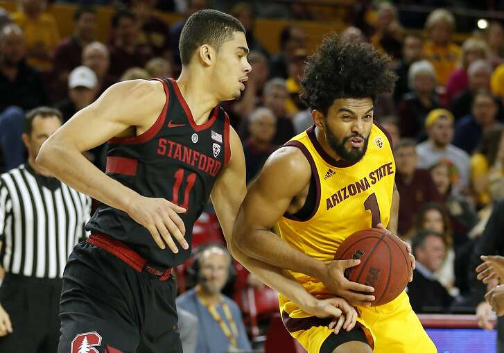 Arizona State guard Remy Martin (1) in the second half during an NCAA college basketball game against Stanford, Wednesday, Feb. 20, 2019, in Tempe, Ariz. Arizona State defeated Stanford 80-62. (AP Photo/Rick Scuteri)