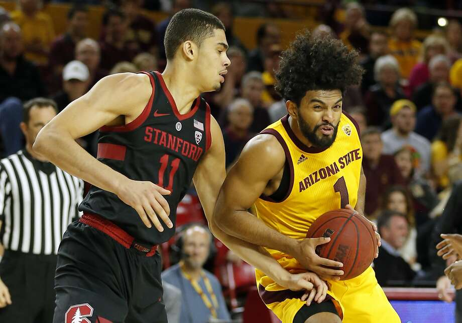 Arizona State guard Remy Martin (1) in the second half during an NCAA college basketball game against Stanford, Wednesday, Feb. 20, 2019, in Tempe, Ariz. Arizona State defeated Stanford 80-62. (AP Photo/Rick Scuteri) Photo: Rick Scuteri / Associated Press