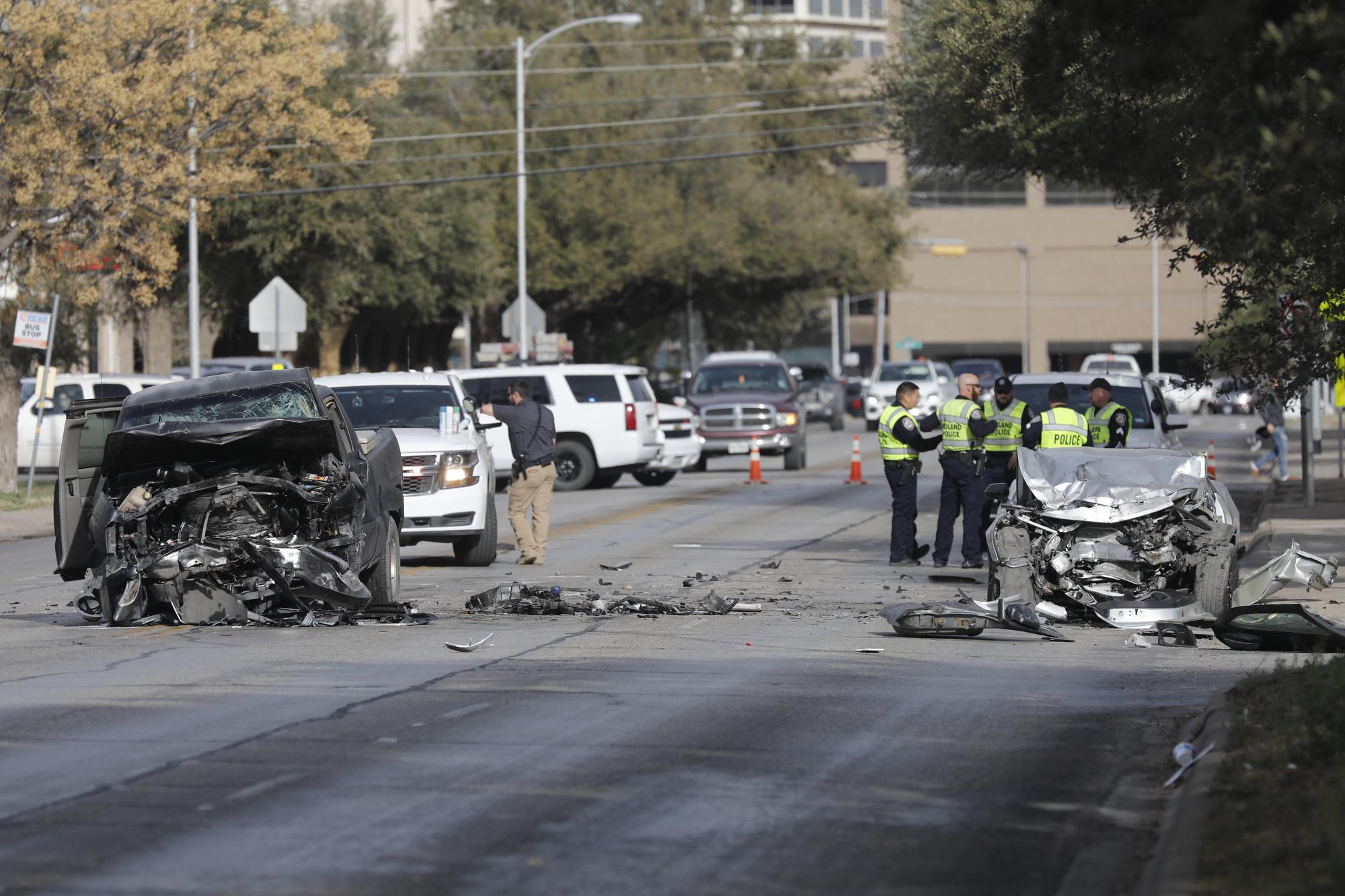 multi-vehicle crash sends two to hospital - midland reporter-telegram