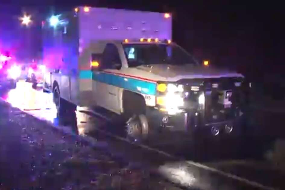 A man shouted profanities while he was taken into custody after leading police on a chase in a stolen ambulance.